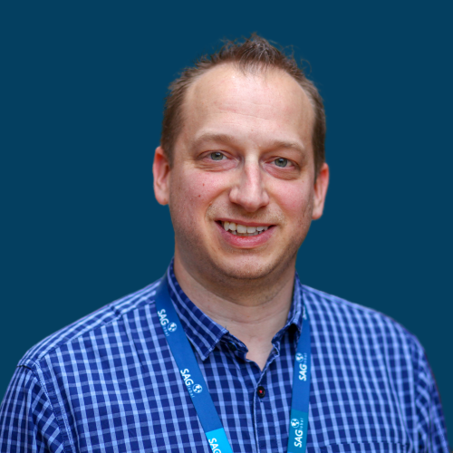 Joel Leichty with Blue Background
